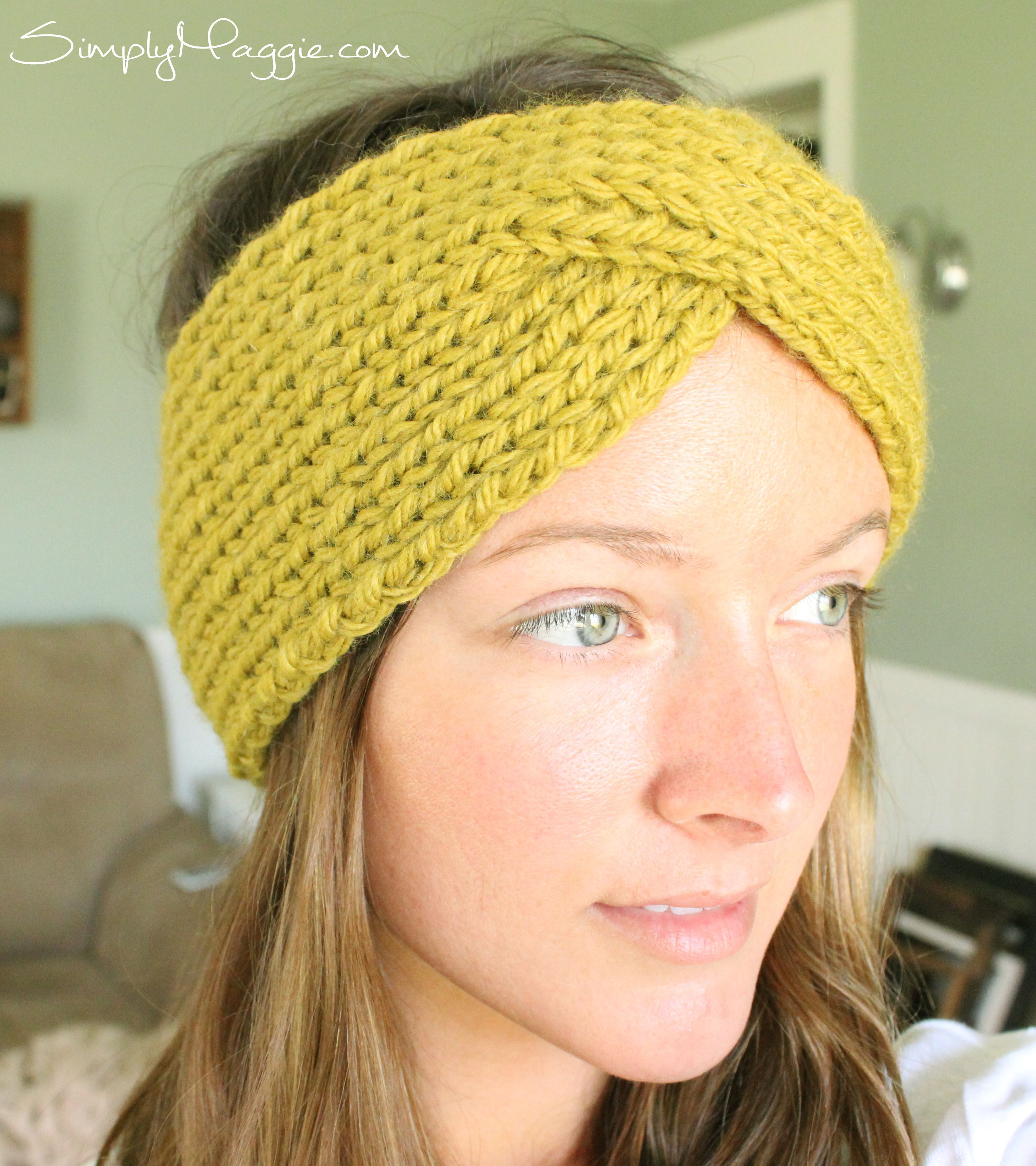 Turban Style Knit Headband Pattern | SimplyMaggie.com | To Make ...