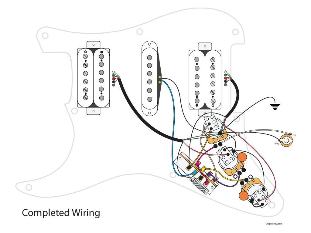 Super HSH Wiring Scheme YouTube Best Of Stratocaster Hsh Diagram