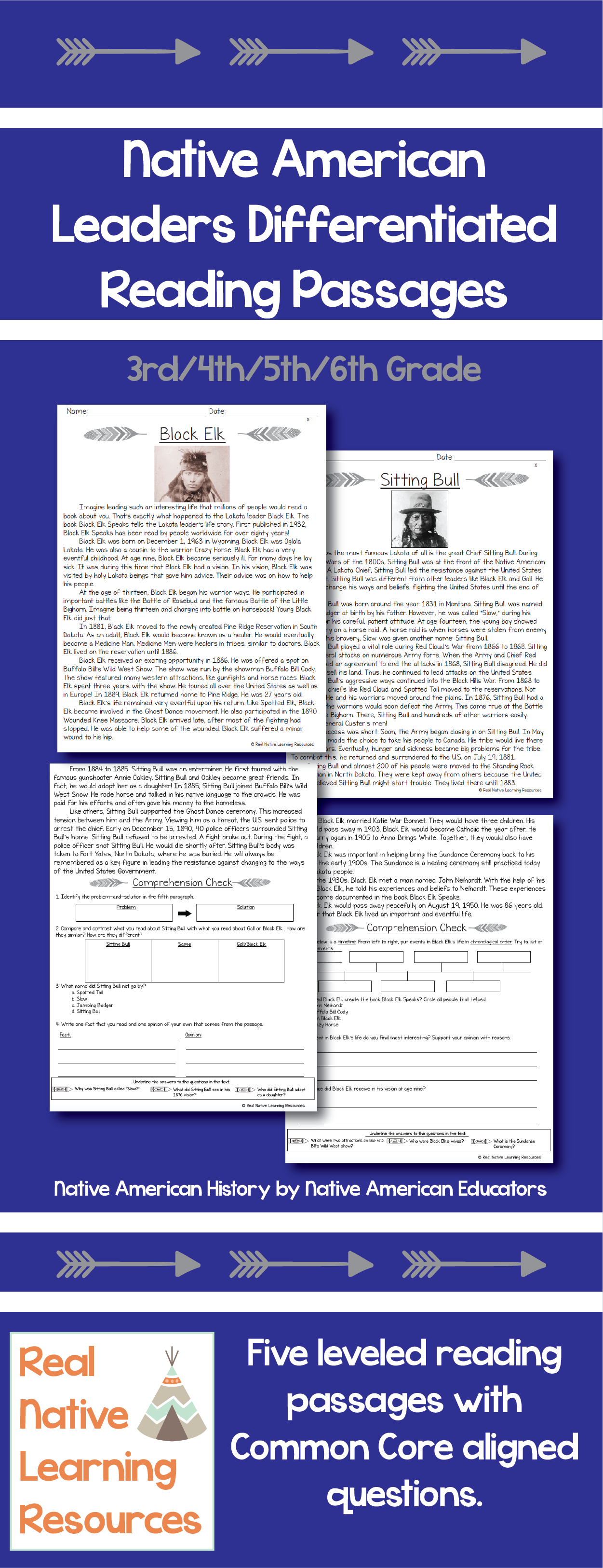 Comprehension Worksheets Native American   Printable Worksheets and  Activities for Teachers [ 3251 x 1251 Pixel ]