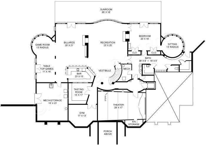 Ashburton luxury home blueprints mansion floor plans basement ashburton luxury home blueprints mansion floor plans malvernweather Images