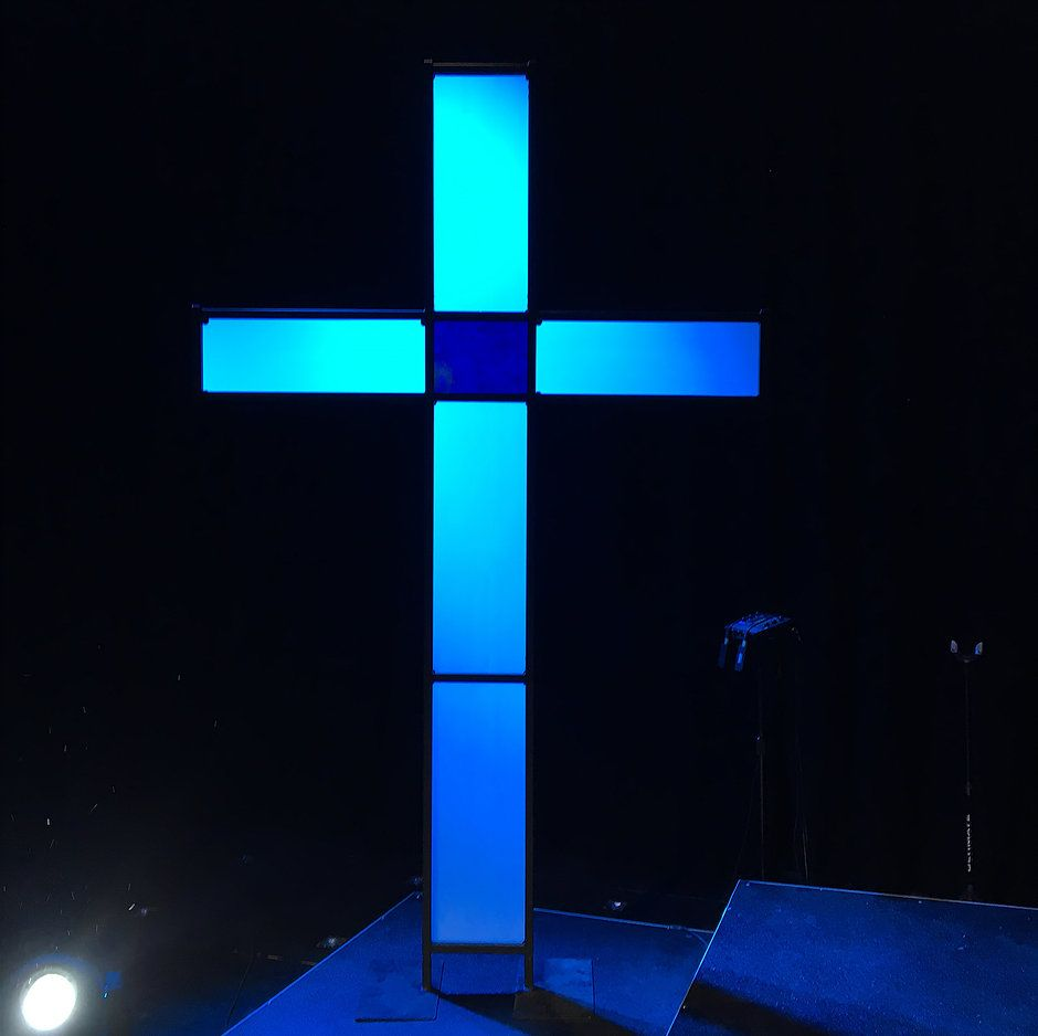Jneproductions Portable Cross Church Stage Design Church Building Design Portable Stage