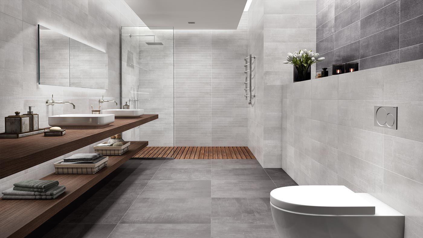 Betonoptikfliesen Badezimmer Badezimmer Inspiration Grosse Fliesen Modernes Badezimmerdesign