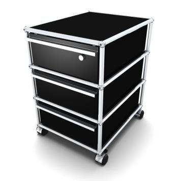 Rollcontainer designermöbel  USM Rollcontainer 3/3/3 graphitschwarz | -# Ideas Office ...