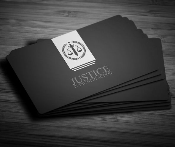 Creative and clean Lawyer Business Card in 3 colors . editable ...