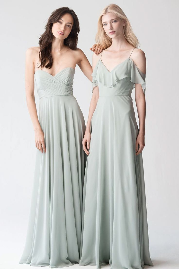 Pale Sea Foam Green Bridesmaid Dresses Jenny Yoo Wedding