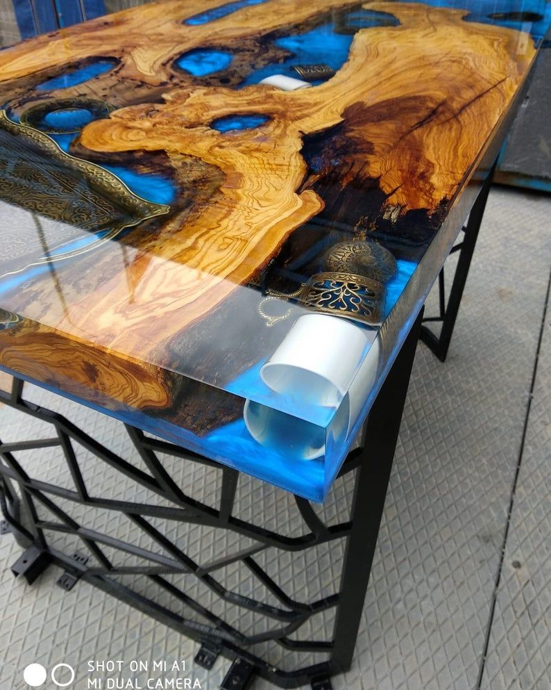 Made to Order Epoxy Wood Resin Clear Table, Epoxy