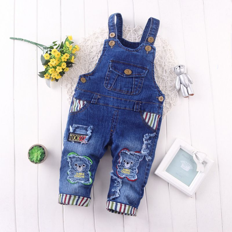 5b996fa25518 Awesome BibiCola spring autumn leisure braces Pants Baby Girls bib pants  children Denim Overall Trousers kids cartoon infant jeans -  23.91 - Buy it  Now!