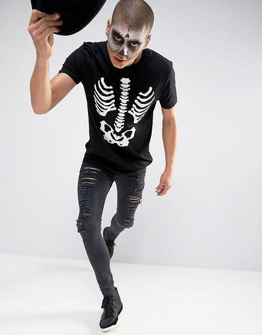 Pieza Perfecta 16 Asos Esqueleto Como Esta Solo 99 Huesos Cuesta De Para Es Tan Del Halloween Camiseta Disfraz anUw8A