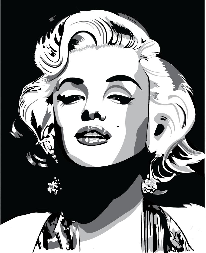 Marilyn Monroe Vector Drawing On Behance Pop Art Marilyn Marilyn Monroe Art Tattoo Posters