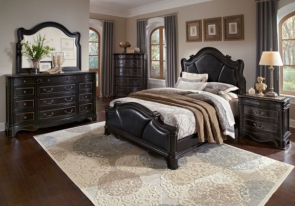Glenmere Smoke Bedroom Collection Furniture Com Queen