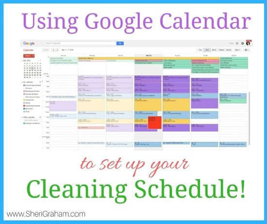 Using Google Calendar To Set Up Your Cleaning Schedule  Cleaning