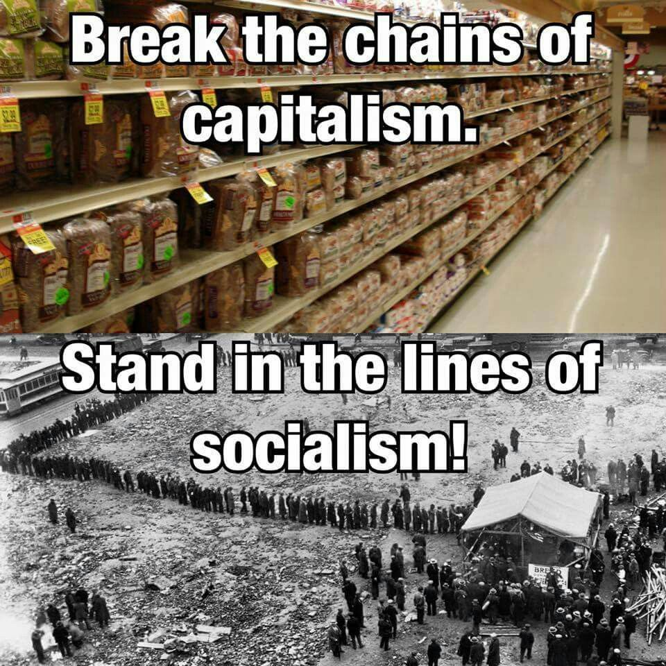 """For the love of God, give me the """"chains"""" of capitalism! That and toilet paper-- unlike those poor, suffering bastards in Venezuela."""