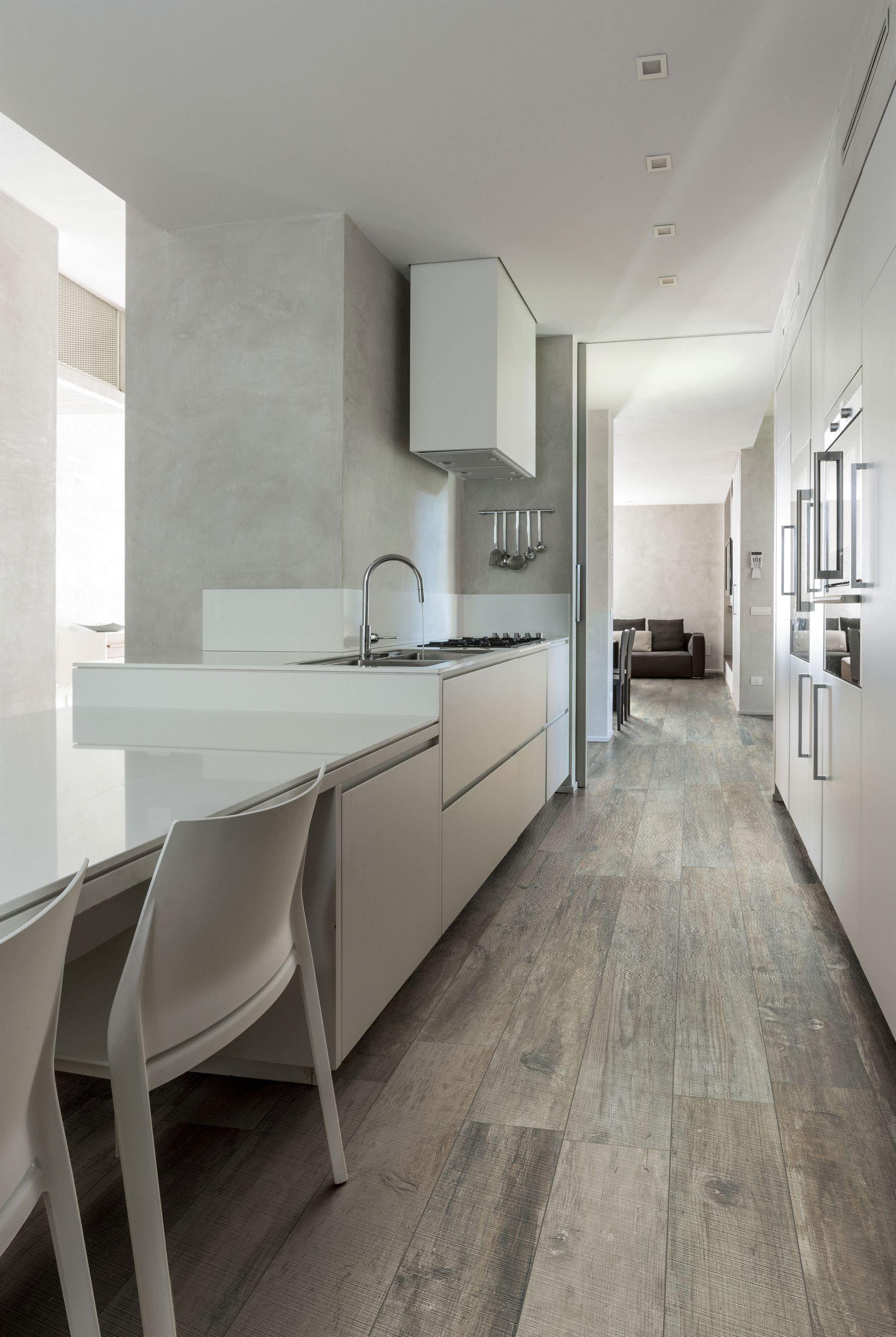 Wunderbar Moderner Bodenbelag Dekoration Von Moderne Hightech Küche Trifft Auf Designerfliesen In