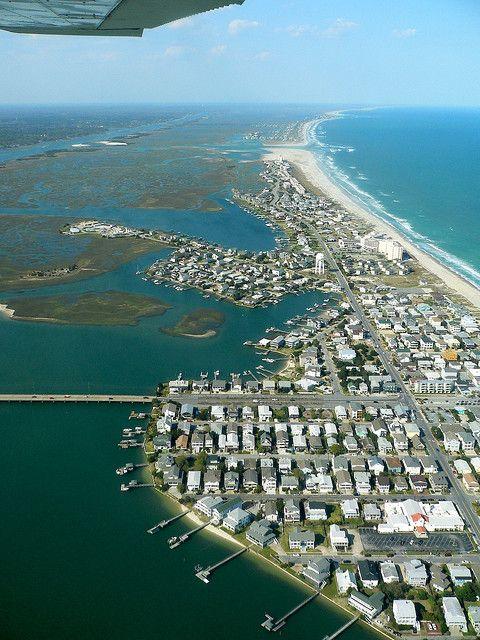 Topsail Island Sand Push Aerial View: Wrightsville Beach, Carolina Beach