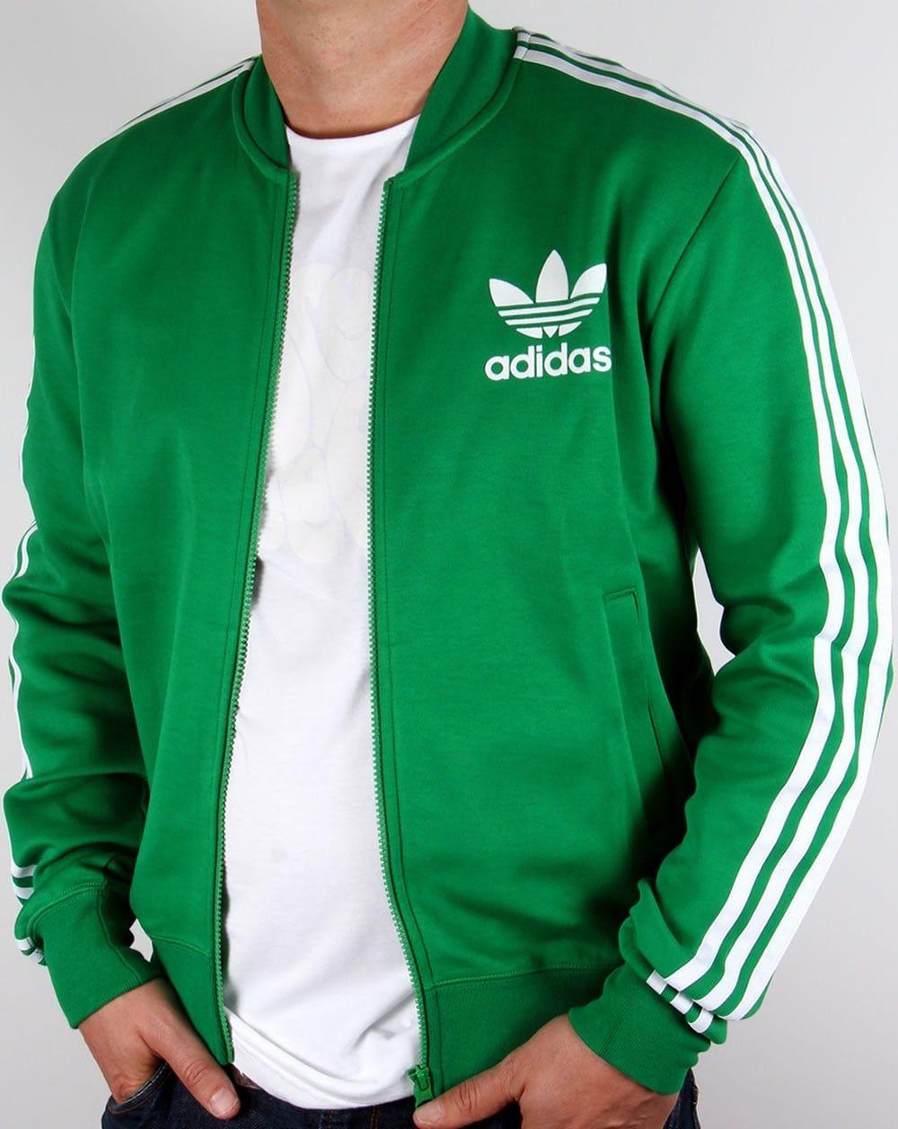 Image result for adidas originals superstar track top green