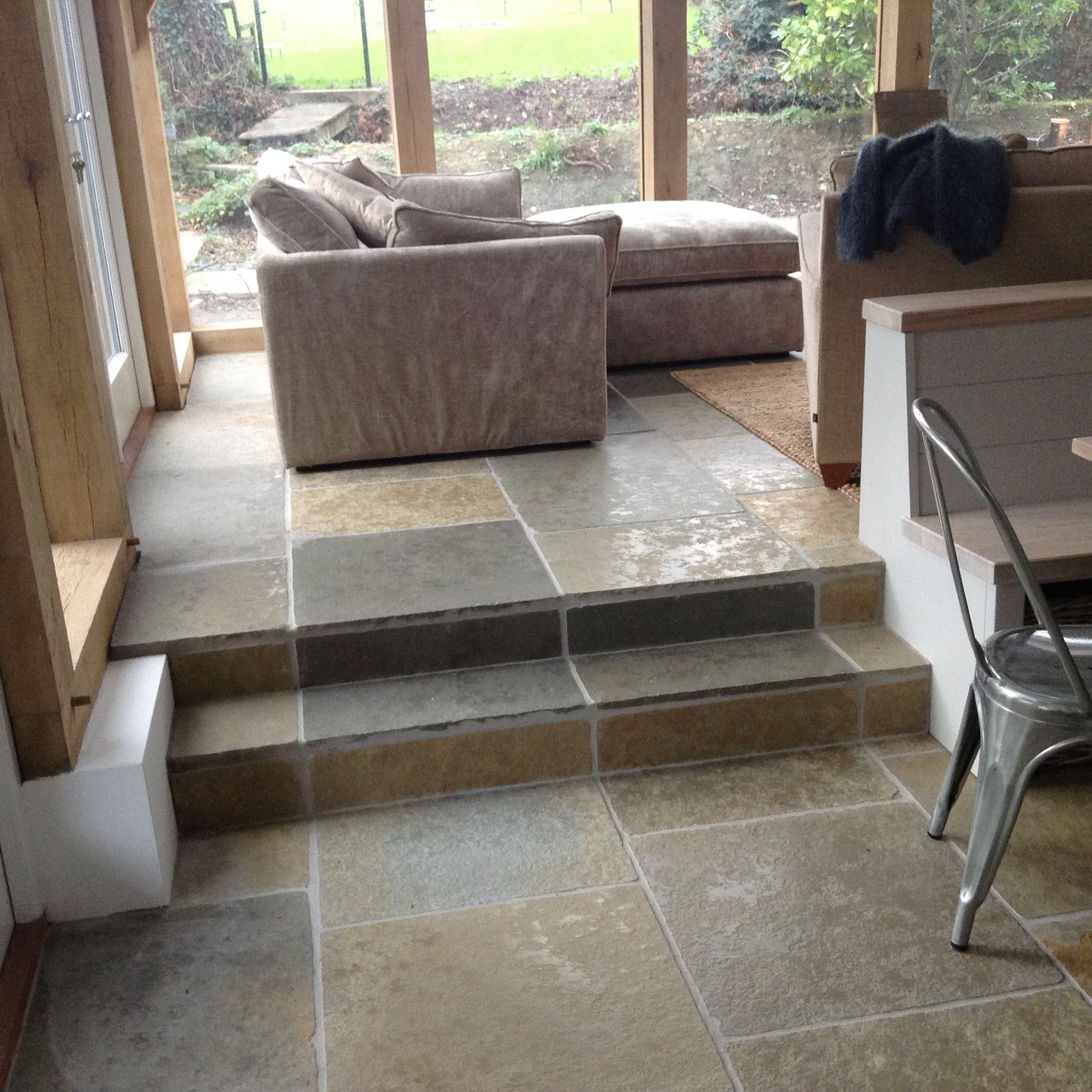 This gorgeous kitchendinerliving area has been laid with our this gorgeous kitchendinerliving area has been laid with our umbrian limestone doublecrazyfo Images