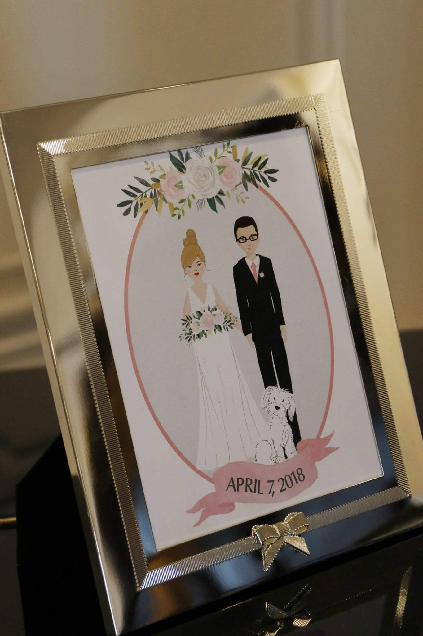 Wedding Portrait By Visually Vee Frame By Kate Spade Wedding