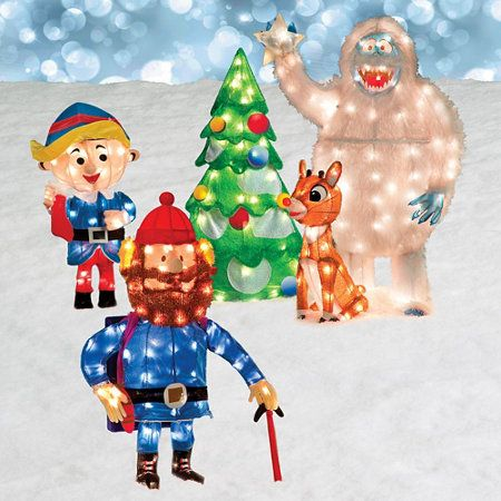 Rudolph And Friends Outdoor Christmas Decoration Diy Christmas