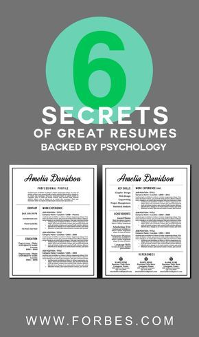 6 Secrets of Great Resumes, Backed By Psychology Professional - great resumes