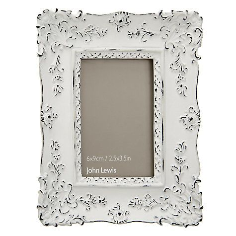 John Lewis French Photo Frame, White, 2.5 x 3.5 (6 x 9cm) | Lounge ...