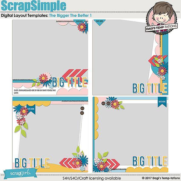 The Bigger The Better 1 Digital Scrapbook Templates By Dagis Temp
