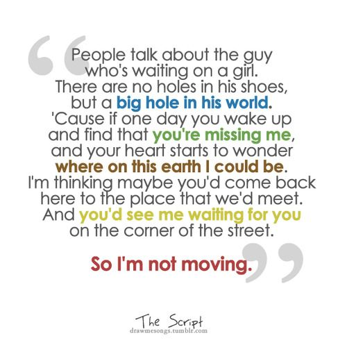 Lyrics Of Man Who Can T Be Moved