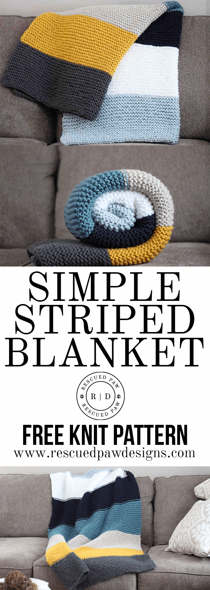 How to Knit a Blanket - Free Knitting Pattern - Free Step by Step Beginner Knit Blanket Pattern #knittingideas