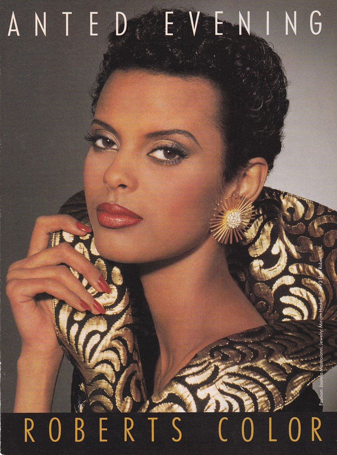 Anna Getaneh for Flori Roberts Cosmetics. Black beauties