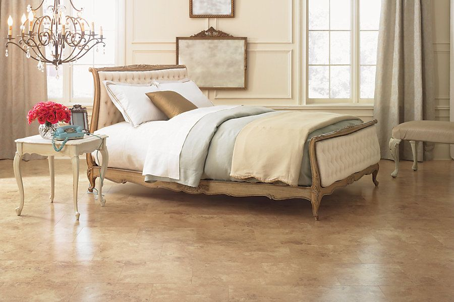 Beige Cream Laminate Tile Floors For Bedroom Bedroom Flooring Tile Bedroom Bedroom Design