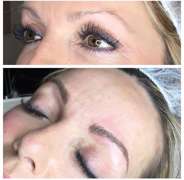 Before and After. Microblading Eyebrows. www.tkbeaute.com ...