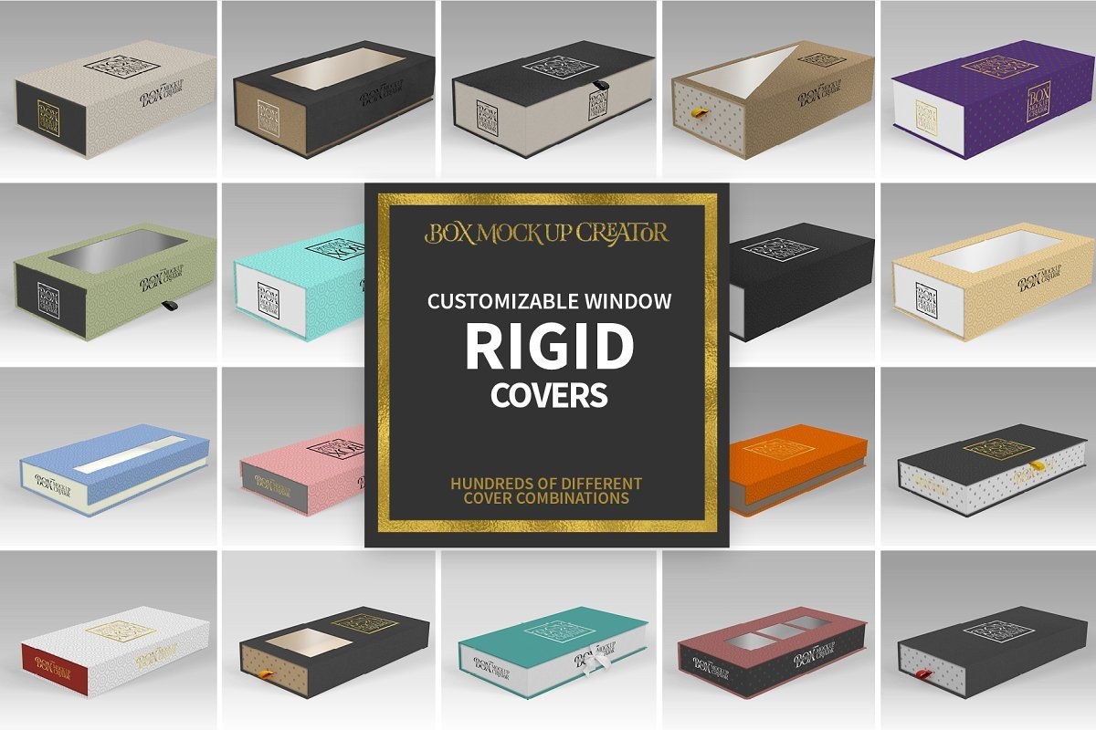 Download Rectangular Box Mock Up Creator Branding Template Vector Patterns Design The Creator