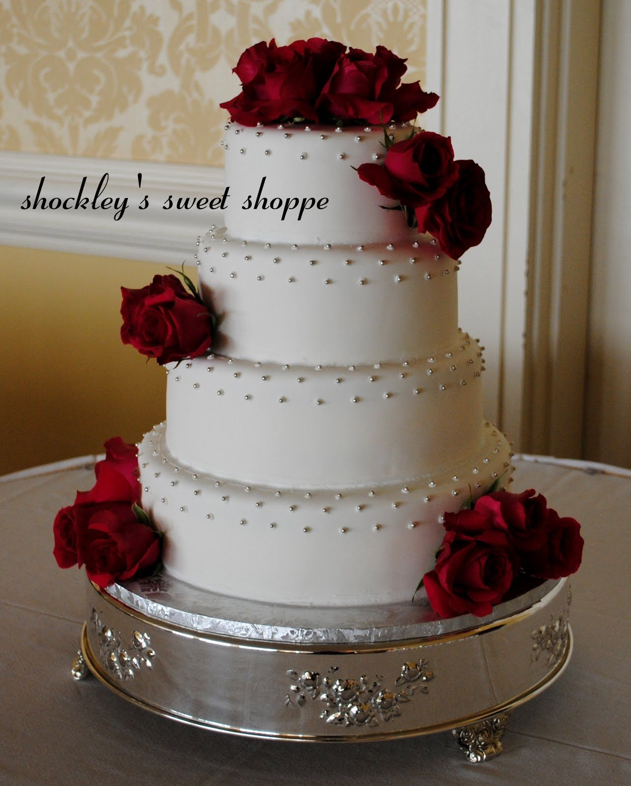 55 Beautiful Red And Silver Wedding Cake Everybody Will Love