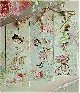Papiernictvo - Shabby kids bookmarks - 4032211_