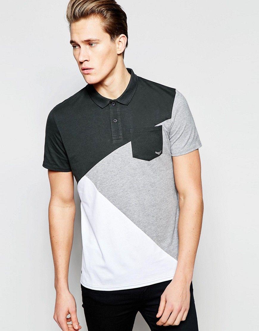 73be74f43 Threadbare+Cut+and+Sew+Polo+Shirt