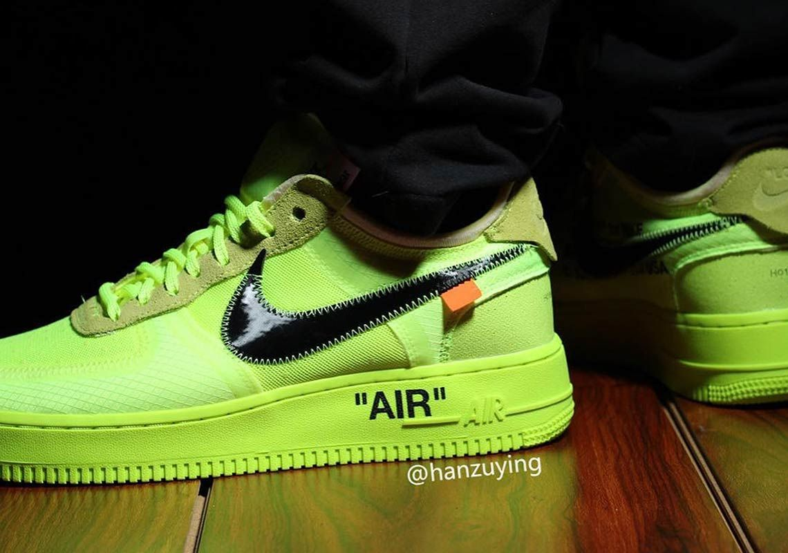 Detailed Look At The Off White X Nike Air Force 1 Volt Nike Air Force Ones Nike Nike Air Force