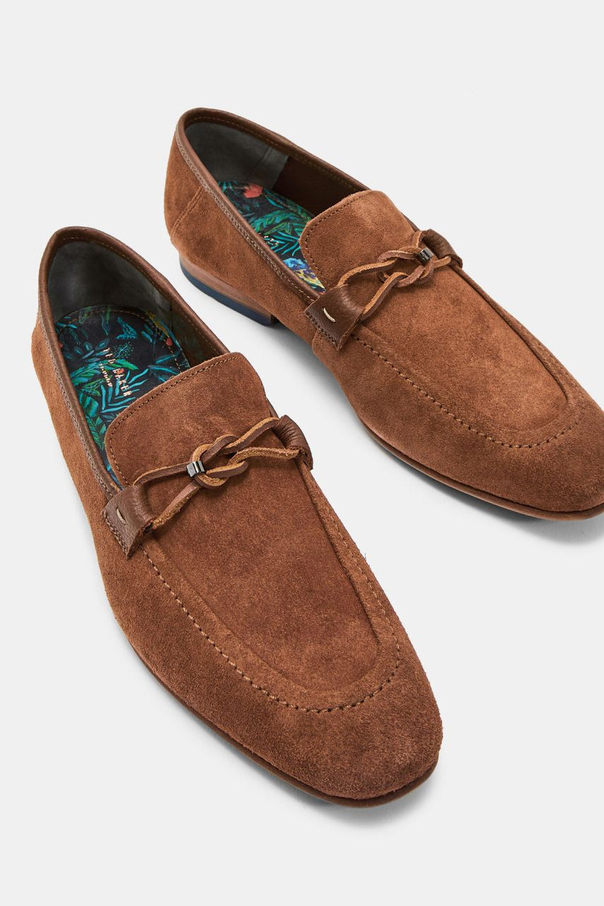 SIBLAC Deconstructed suede loafers