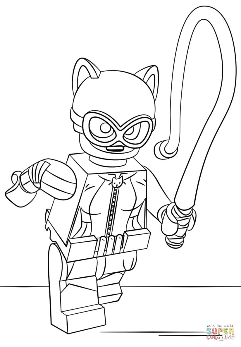 Lego Catwoman Coloring Pages To Print In 2020 Batman Coloring Pages Lego Coloring Pages Lego Coloring
