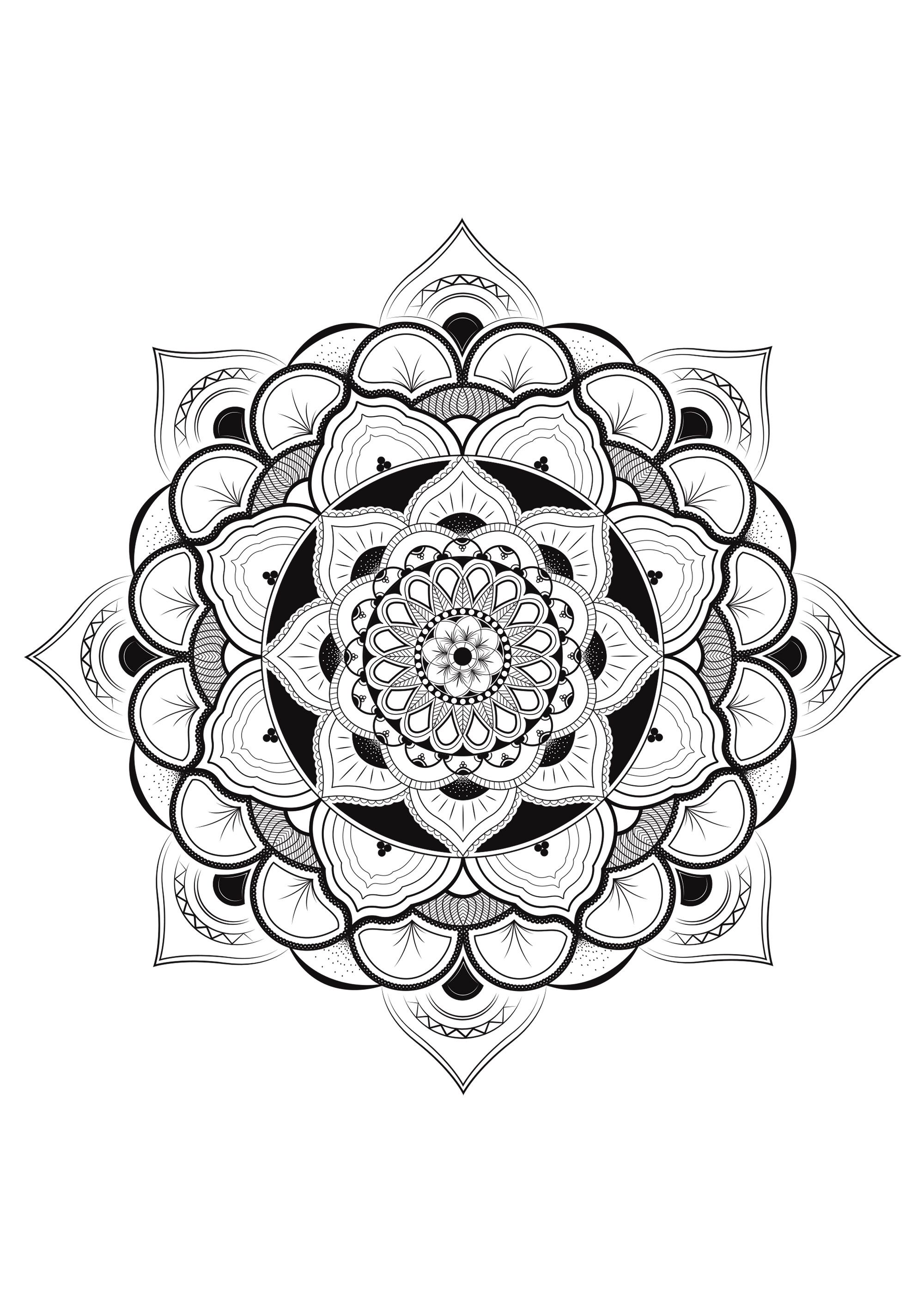 Pretty Mandala With Lot Of DetailsFrom The Gallery MandalasArtist Louise