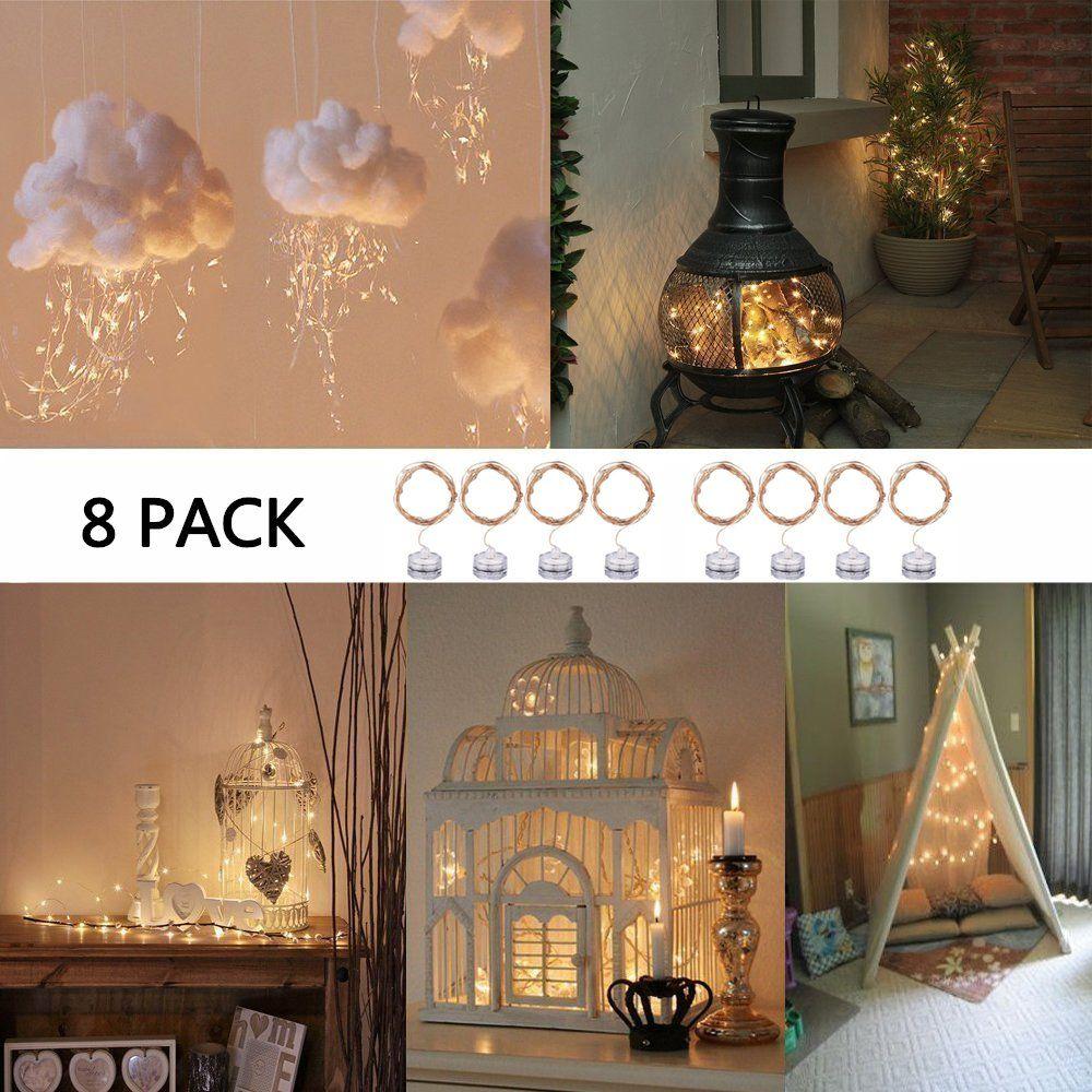 Fairy Lights Battery Operated String Lights Pcs Pack Orange Ft - String lights for kids bedroom