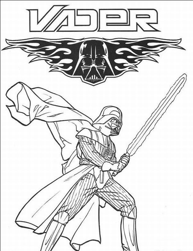 Vader Star Wars Coloring Page | colouring sheets | Dibujos, Colores ...