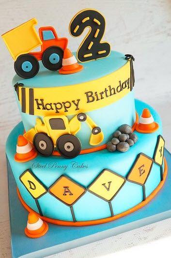 2 Year Old Birthday Cake : birthday, Birthday, Ideas, Truck, Cakes,, Construction, Cake,