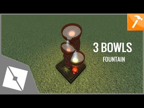 Roblox Tutorial Speedbuild 3 Bowls Fountain Youtube Roblox