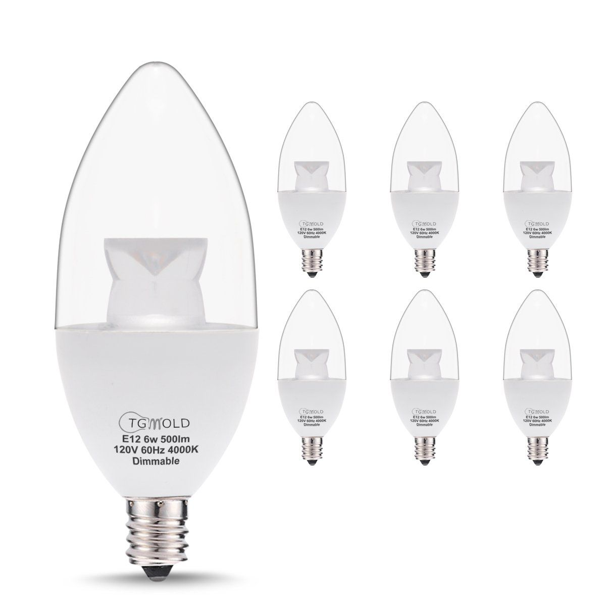 Tgmold candelabra led bulb dimmable 60w equivalent daylight 4000k tgmold candelabra led bulb dimmable 60w equivalent daylight 4000k led light bulbs candelabra base arubaitofo Gallery