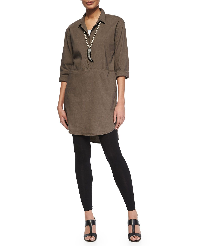 Eileen Fisher Linen Viscose Stretch Shirtdress Organic Cotton Slim Tank Viscose Jersey Leggings Women S Fashion Clothes Chicos Fashion