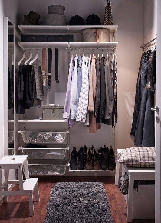 dressing ikea sur mesure choisissez le syst me algot un grand dressing ouvert s 39 adaptant. Black Bedroom Furniture Sets. Home Design Ideas