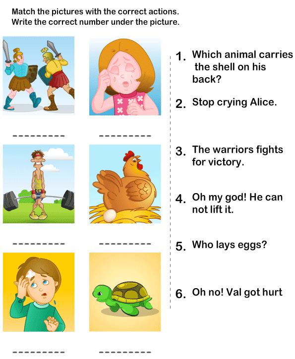 Action Verbs Worksheets eslefl Worksheets kindergarten – Interactive Worksheets for Kindergarten
