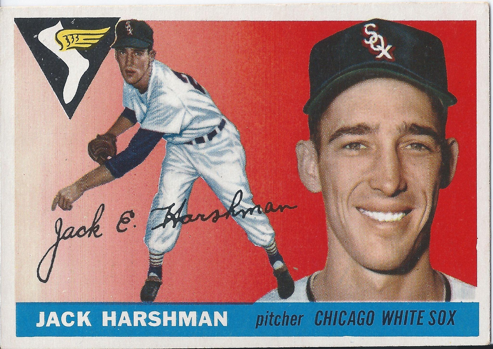 1955 Topps 104 Jack Harshman Chicago White Sox Baseball Card