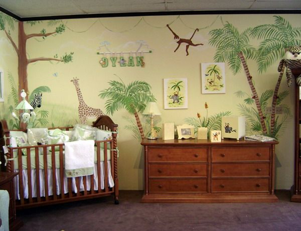 Jungle Murals for Nursery Wall Mural Paintings Decoration Ideas ...