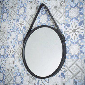 Miroir Barbier, noir, l.39 x H.39 cm | Leroy Merlin | chambre ...