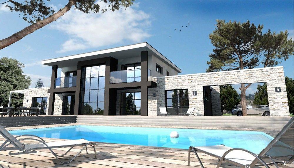 Constructeur maison moderne nantes rez loire atlantique - Idee maison contemporaine ...